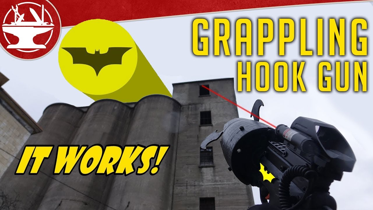 Hardcore batman fans created a fully functional bat grappling hook