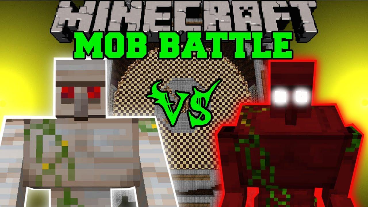 Mutant Iron Golem Vs Demon Golem Minecraft Mob Battles