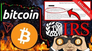 BITCOIN Price Headed BELOW $9k?! IRS Targets US Crypto Investors!! TRON Recap