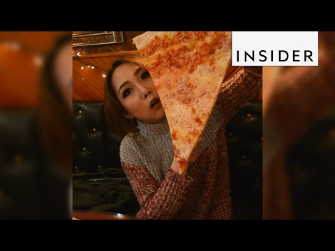 A Hoboken pizzeria is famous for its giant pizzas