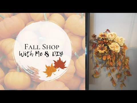 SHOP WITH ME   FALL DECOR SALES   MICHEALS, JOANNS, MARSHALLS & HOBBY LOBBY   FALL FLORAL DIY
