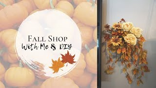SHOP WITH ME | FALL DECOR SALES | MICHEALS, JOANNS, MARSHALLS & HOBBY LOBBY | FALL FLORAL DIY