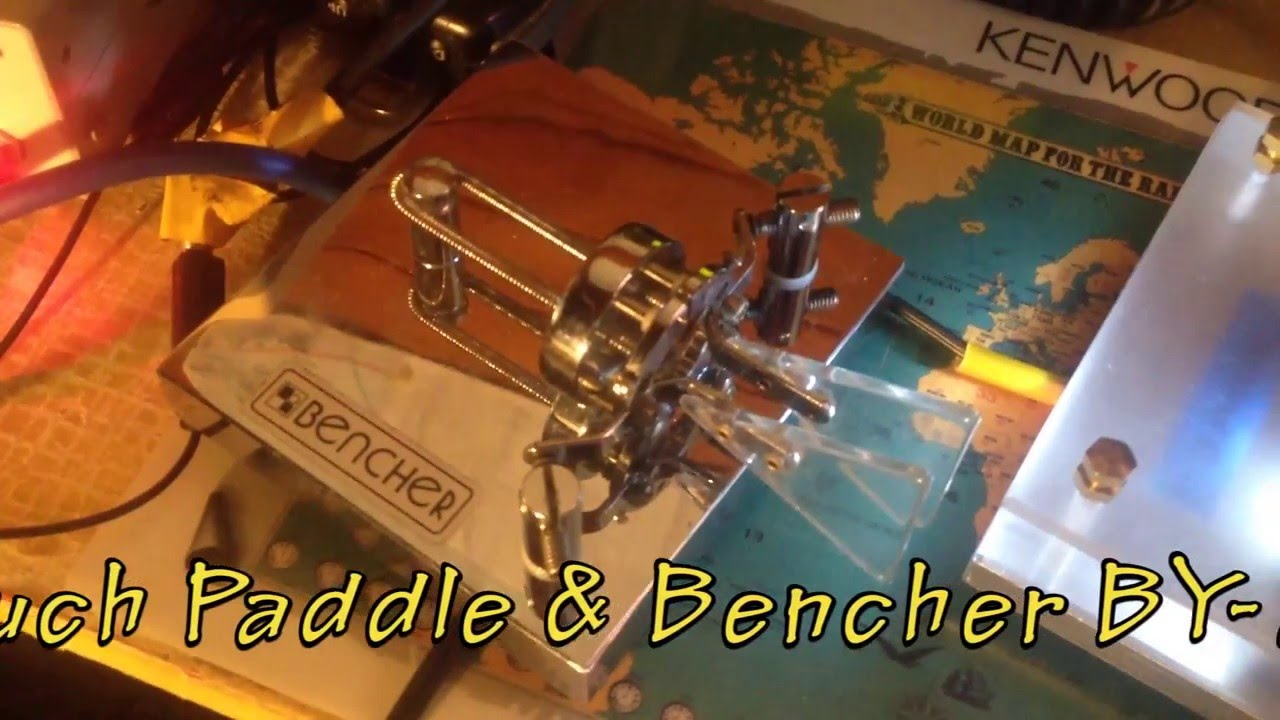 My home-made Touch Paddle Vs Bencher BY-2 Iambic paddle