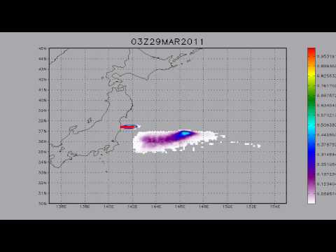 26.03.2011. Fukushima. Cs 137 transport. 5 days forecast.
