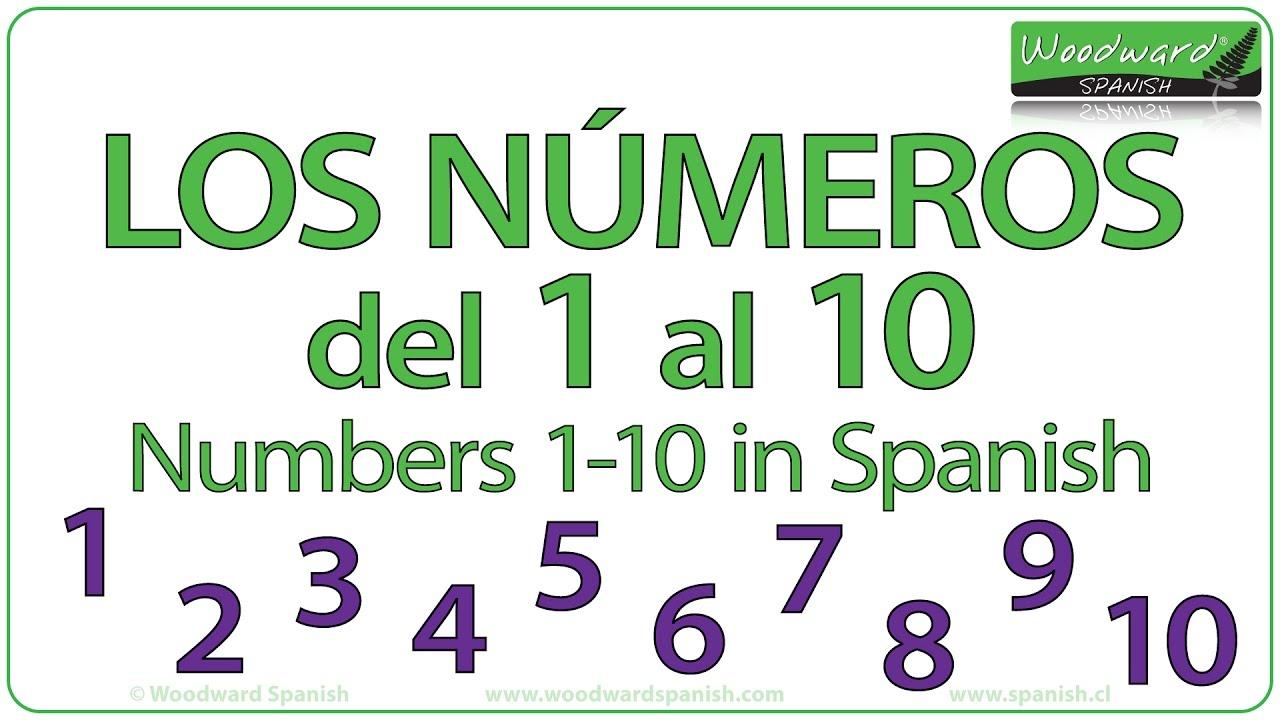Los Números del 1 al 10 - Spanish Numbers 1-10 - YouTube