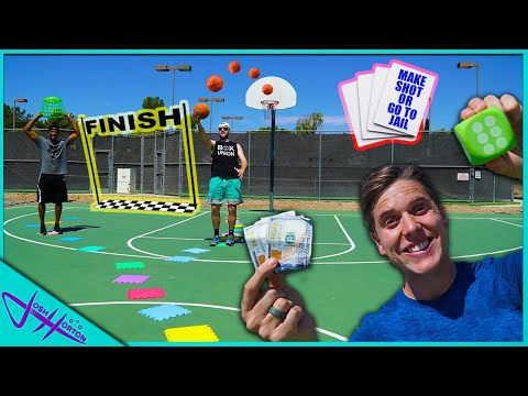 real-life-basketball-trick-shot-giant-board-game!