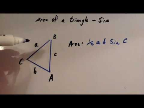 how to find area of triangle using sine