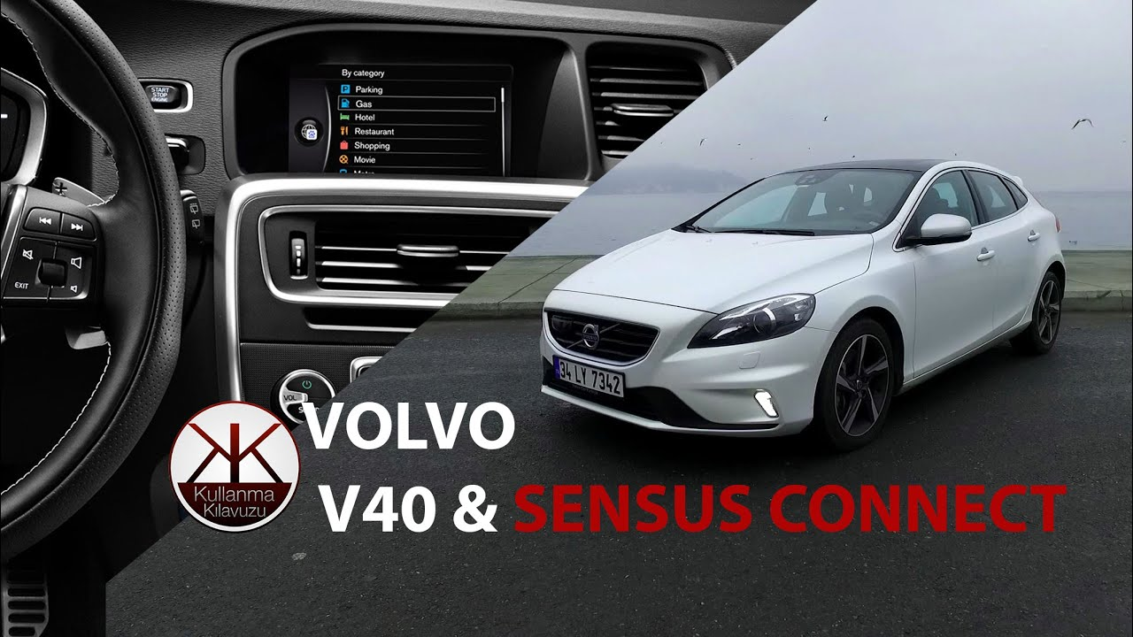 volvo v40 sensus connect incelemesi youtube. Black Bedroom Furniture Sets. Home Design Ideas