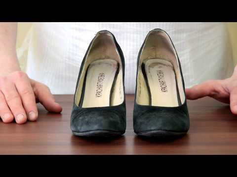Как почистить туфли из замши