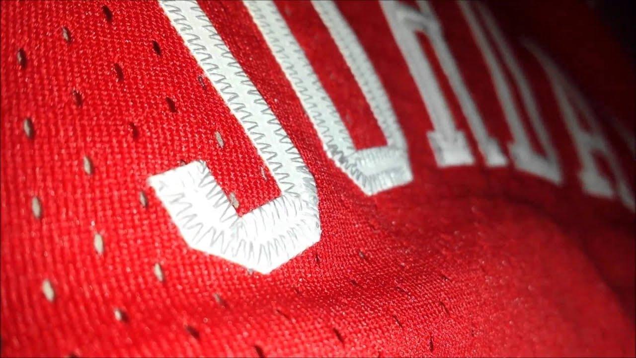 hot sale online 33dbc e13d0 Michael Jordan Chicago Bulls Cursive Red Jersey Review