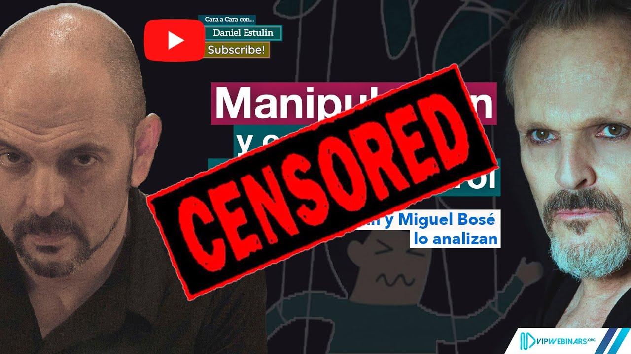 Cara a cara entre Miguel Bosé y Daniel Estulin fue censurada y retirada del canal YouTube