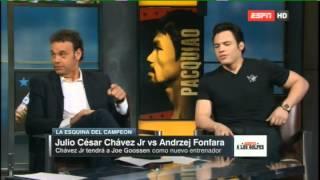 A LOS GOLPES con CHAVEZ Jr & Saul Canelo ALVAREZ -  9 MAR 2015