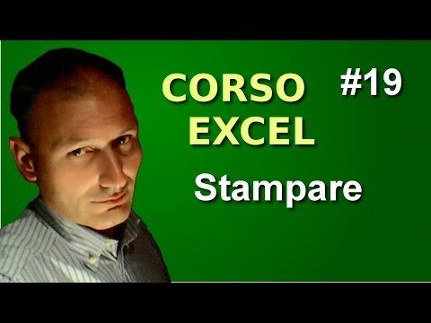 Corso di Excel - Lezione 19 - Stampare