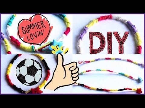 Sommer DIY ❣ Freundschaftsbänder❣Spiral-Armbänder knüpfen ♥schnell&einfach♥