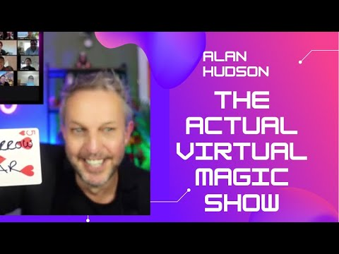 Incredible Virtual Magic Show Online for Zoom, Teams or WebEx
