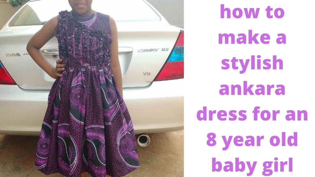 Download how to make a stylish ankara ball dress for an 8 year old baby girl/African print smocking dress.