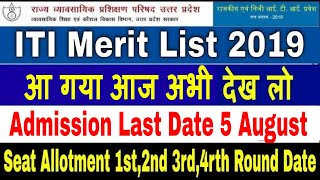 ITI Merit List 2019 UP ITI Merit List 2019 Date ITI Merit list 2019 Kab ayega iti merit list kaise d