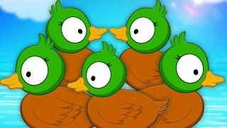 Мультфильмы для детей | пять маленьких уток | утиная песня | 5 Little Ducks | Kids Baby Club Russia