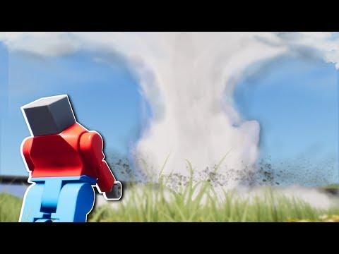 SURVIVING A TORNADO! - Brick Rigs Multiplayer Gameplay - Lego Tornado Survival Challenge!