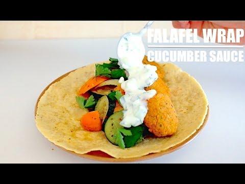 falafel-wrap-&-cucumber-yogurt-sauce