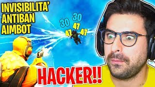 REACTION TO HACKER ON FORTNITE!!