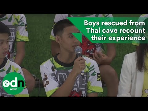 Boys rescued from Thai cave recount their experience