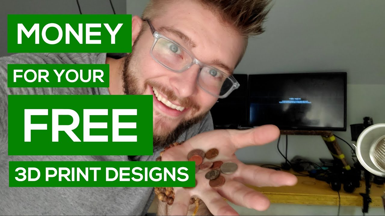 Get Micro-Payments for Your FREE 3D Print Designs + Q&A [LIVE Replay]