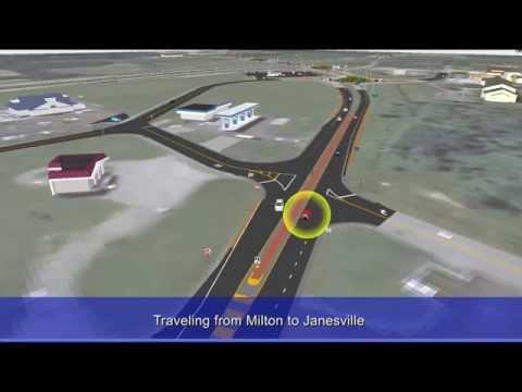 I-39/90 and WIS 59 interchange animation