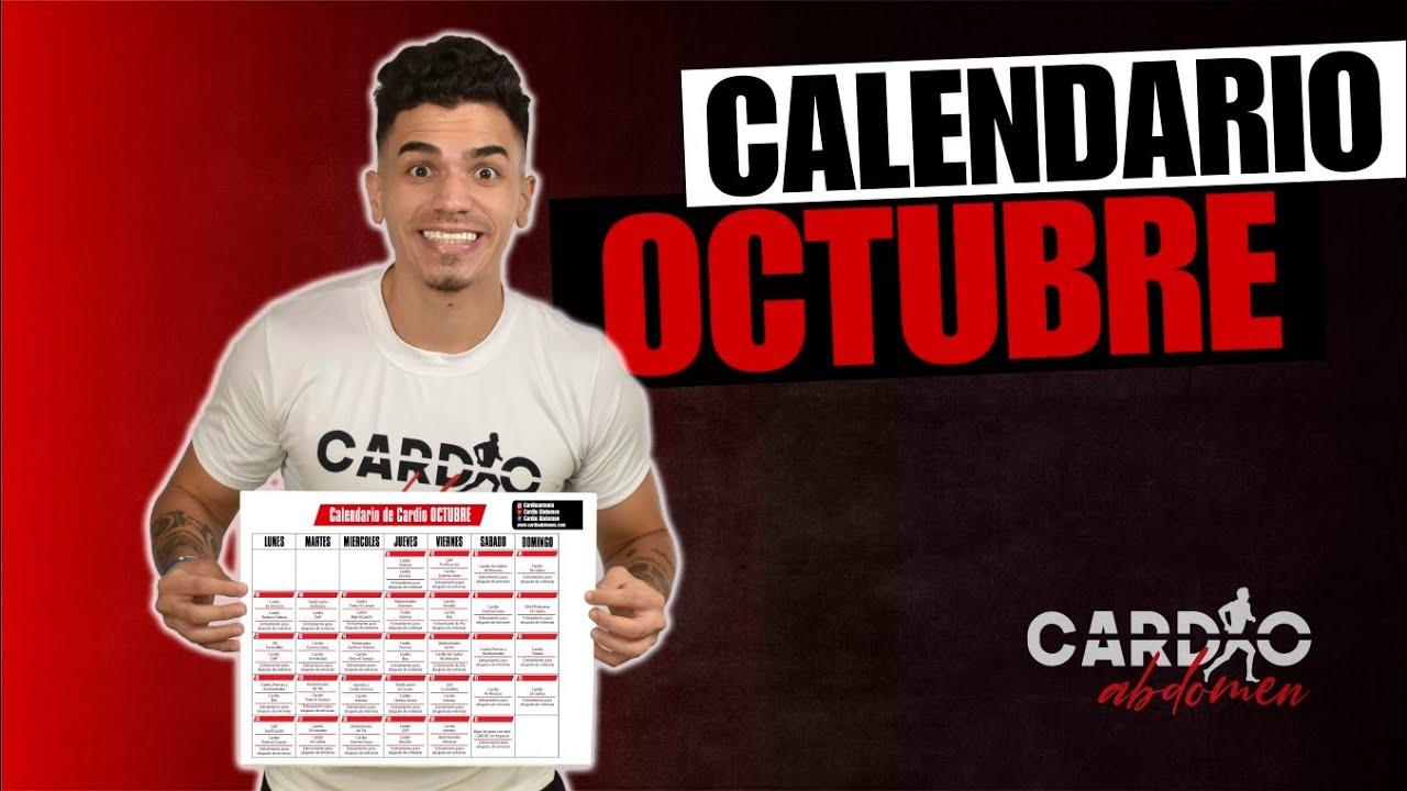 """Calendario de Entrenamiento """"OCTUBRE"""" DESDE CASA"""