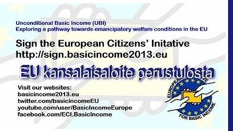 Keskustelu perustulosta EU:ssa, Pikkuparlamentti  24. 9.13