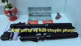 Đèn pin tự vệ siêu sáng K28 giá rẻ nhất HCM