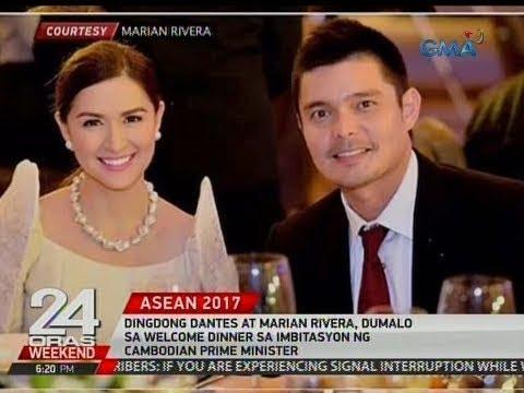 Dingdong Dantes at Marian Rivera, dumalo sa welcome dinner sa imbitasyon ng Cambodian Prime Minister