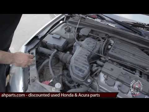 Air intake resonator box How to replace install fix change 01 02 03 04 05 Honda Civic replacement