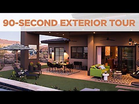 hgtv smart home 2017 90 second exterior tour youtube. Black Bedroom Furniture Sets. Home Design Ideas