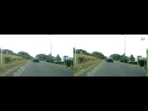 A Drive from Port Louis to Beau Bassin, Mauritius - time lapse in 3D (3DS Test)