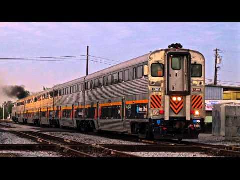Amtrak & BNSF in Hanford, CA - 11/11/14