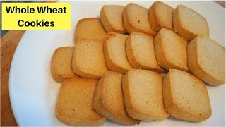 How to make Whole wheat cookies   Atta Biscuit Recipe   Valentine Special   Healthy Cookies