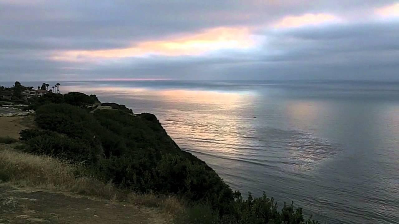 cliff overlooking the pacifc ocean palos verdes ca youtube