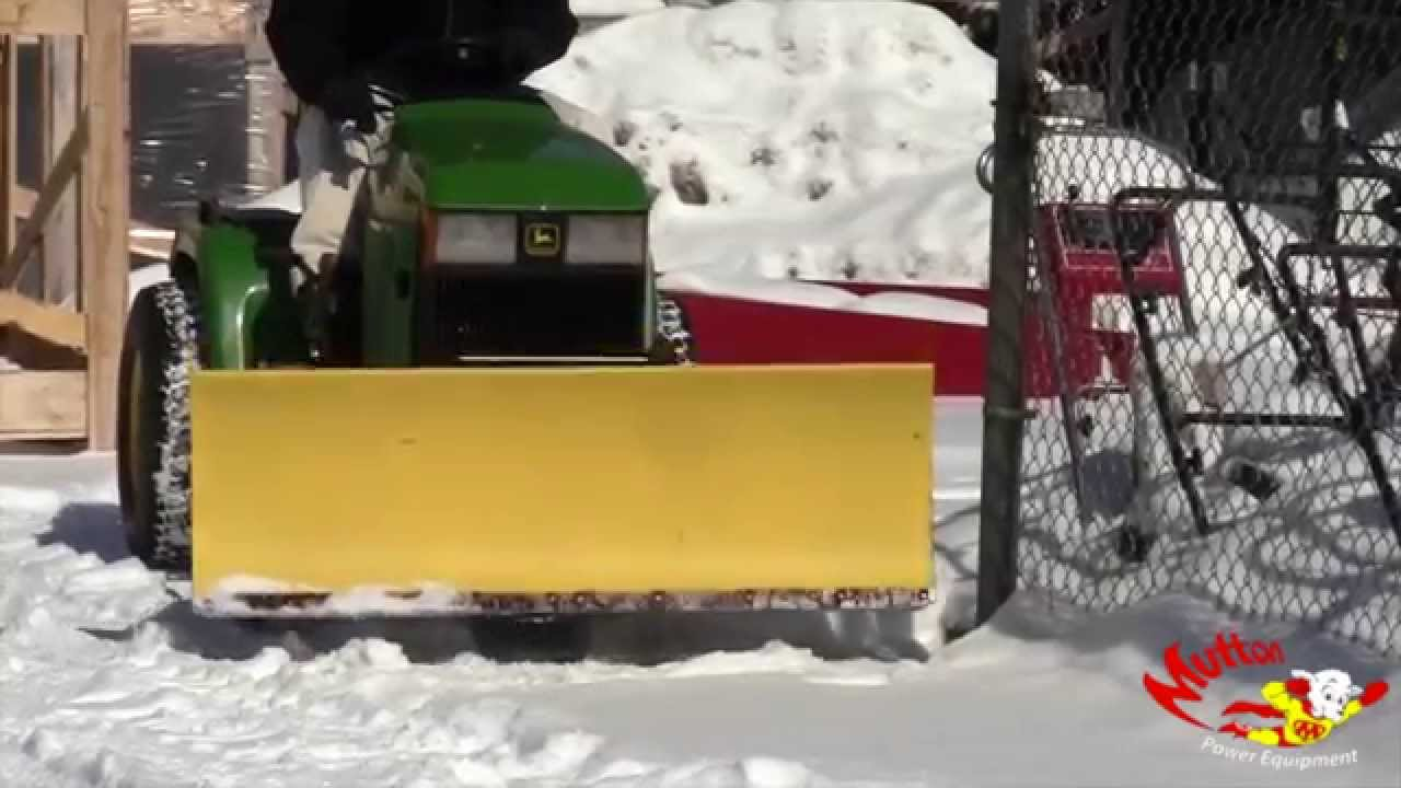 John Deere 54 Quick Hitch Front Snow Blade Attachment Youtube