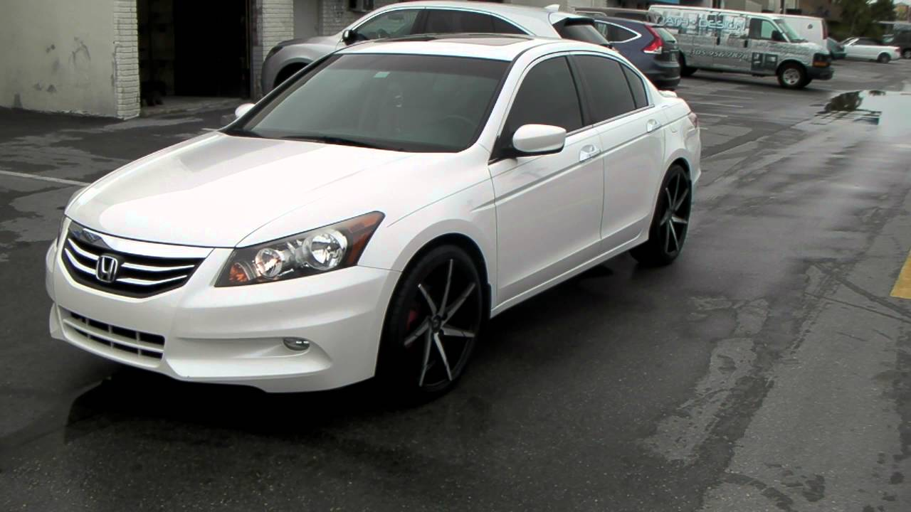 "877-544-8473 20"" Inch CSS7 Black Wheels 2012 Honda Accord Rims Miami Free Shipping - YouTube"