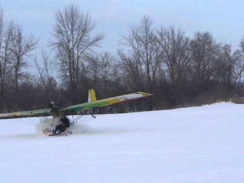 B1-RD on skis crash