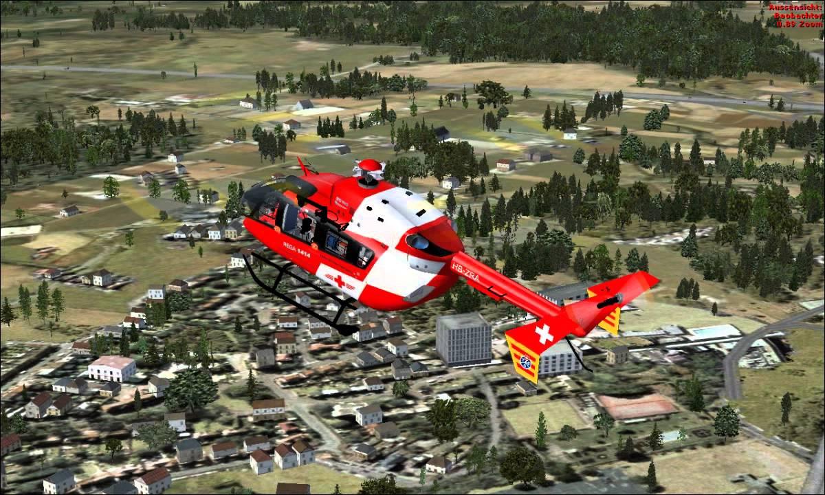 Kleiner Flug mit einer Ec145 Rega Team [FSX]