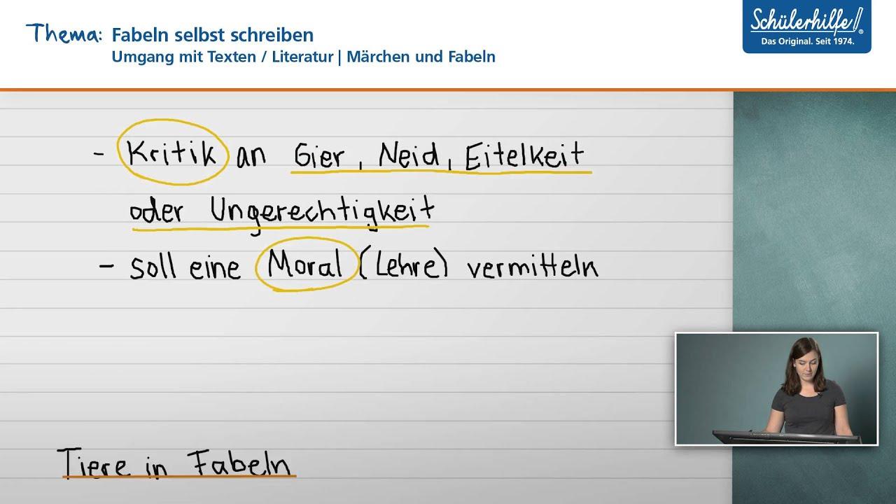 Fabeln selbst schreiben // Umgang mit Texten // Deutsch ...