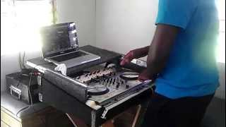 DJ ASHANI AFTER BREAKFAST EXERCISE ON THE NUMARK TRAK 4 @ashani09 in BARBADOS