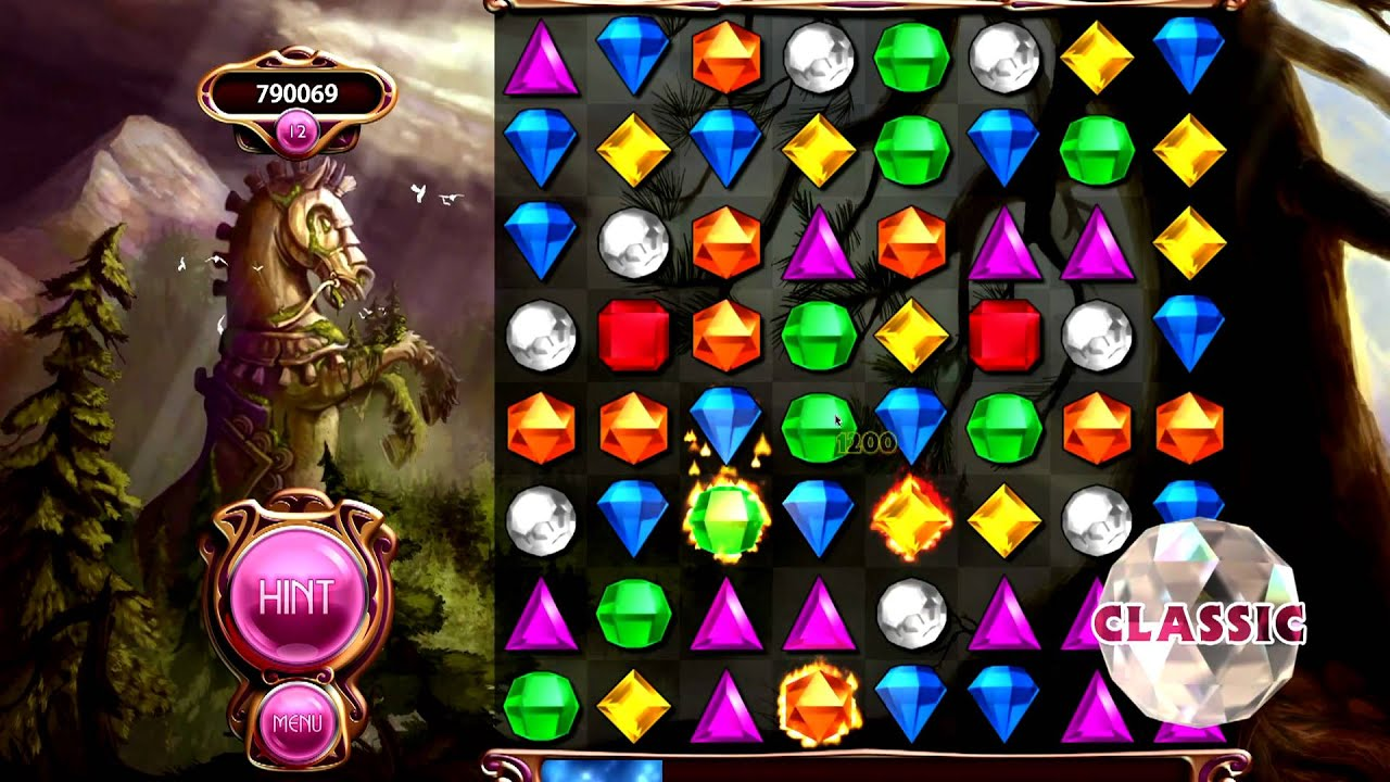 About Bejeweled. We are proud to present Bejeweled, the most popular match 3 game ever made. Match the jewels in groups of three to remove them, and keep on going for as long as you can.
