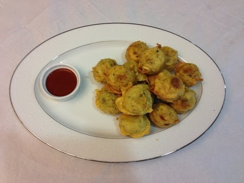 Bateta Wara or Curried Potato Fritters in Gujrati