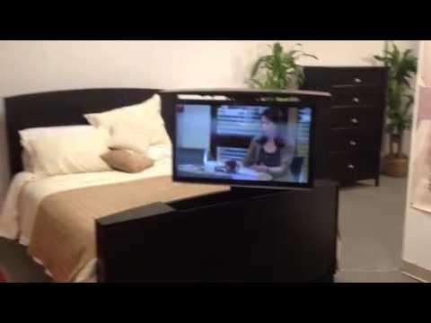 tv lift bed video youtube. Black Bedroom Furniture Sets. Home Design Ideas