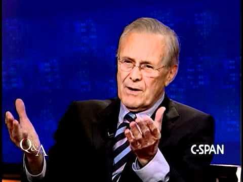 Donald Rumsfeld on Maureen Dowd