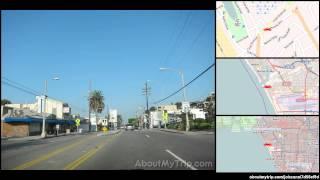 South Bay Bike Path (Westchester, Los Angeles, CA) to Mindanao Way (Playa Vista) via Playa Del Ray