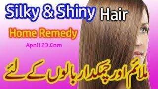 Silky And Shiny سلکی اور چمکدار بالوں کے راز اُردو میں Hair Beauty Tips in Urdu Hindi Home